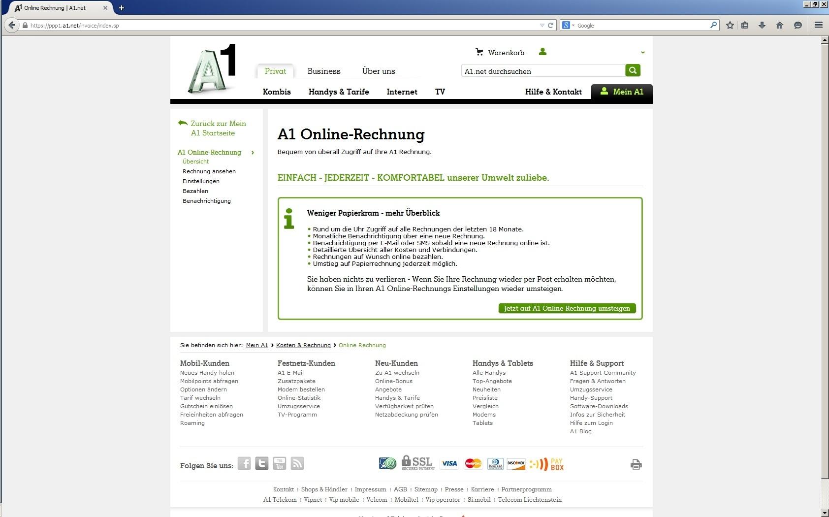 Umstieg Auf Die Online Rechnung Die Wichtigsten Facts A1