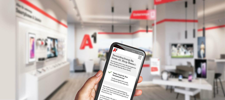 Ab sofort: Beratungstermin online für den A1 Shop buchen