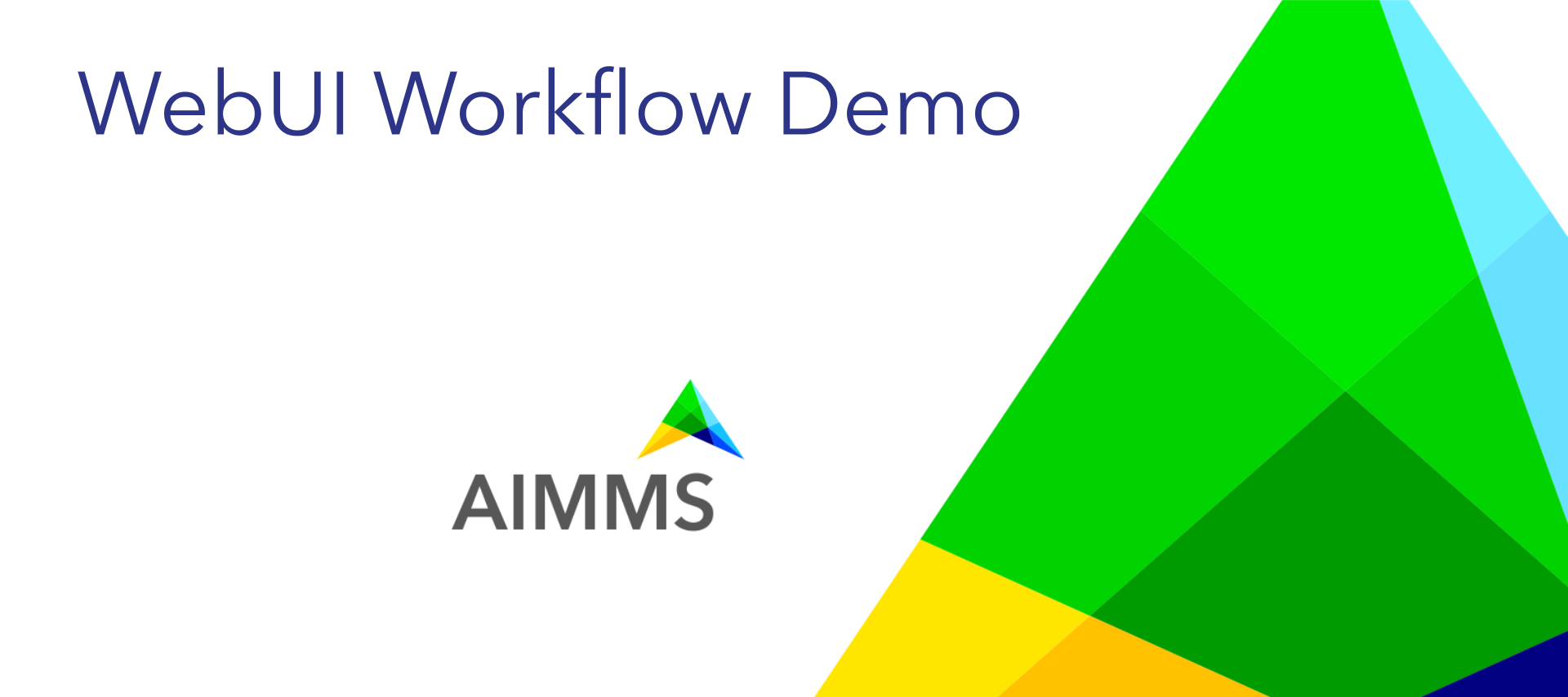 WebUI Workflow Demo