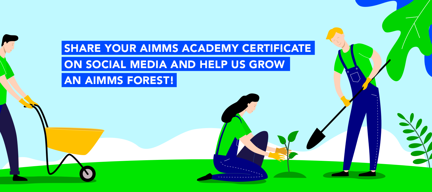Get certified on AIMMS Academy. Get a tree planted in your name!