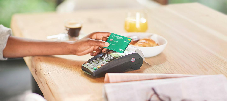 Carte de débit Bancontact-Visa Debit - La nouvelle carte de débit pour tous vos achats quotidiens.
