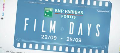 Ga goedkoop naar de film met de BNP Paribas Fortis Film Days