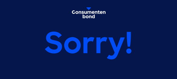 ❗ Onderhoud Consumentenbond.nl