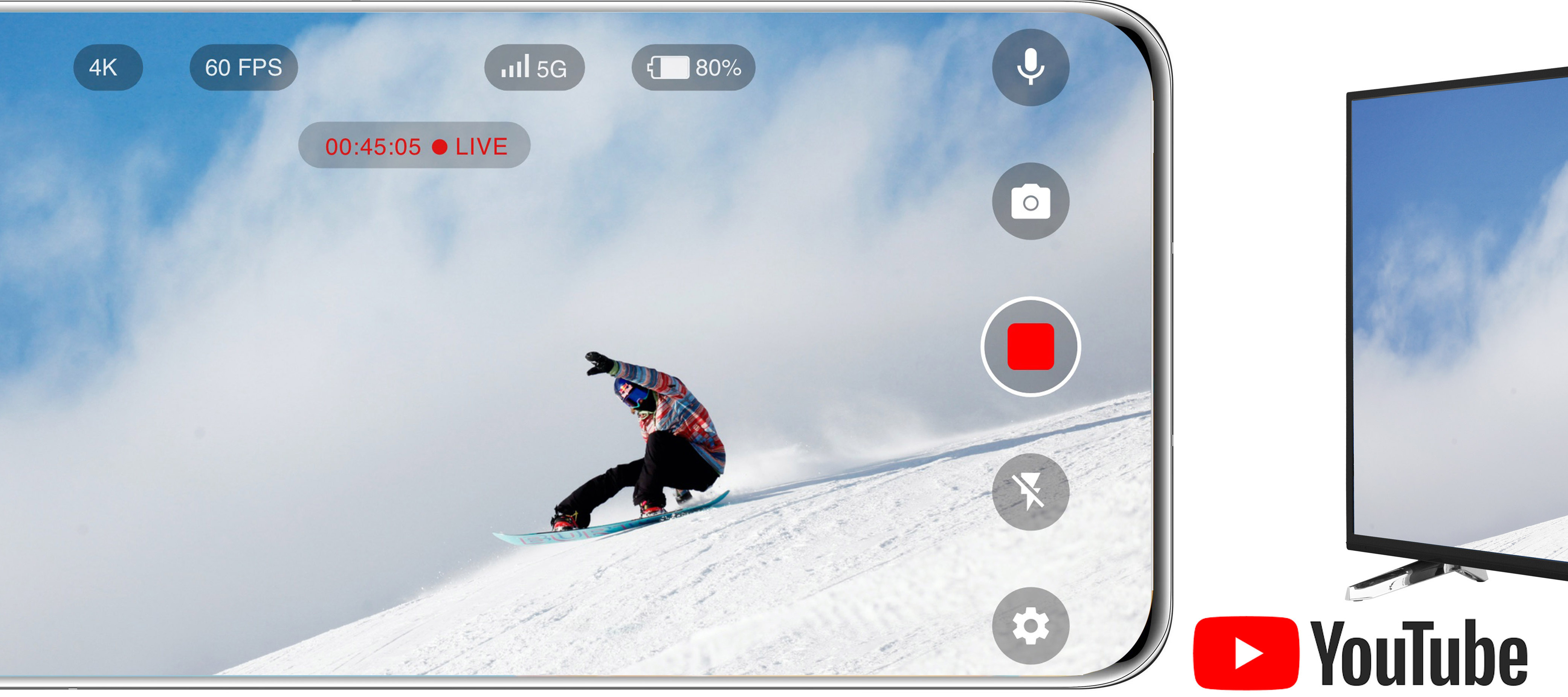 Striimaa 4K Live -videota uudella Elisa 4K Live -sovelluksella!