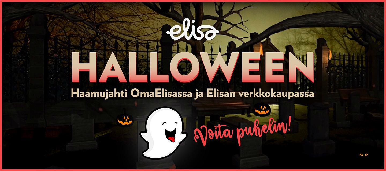 Elisan haamu on piiloutunut Halloweenin ajaksi 28.10. - 3.11.2019 Elisan verkkokauppaan ja OmaElisaan!