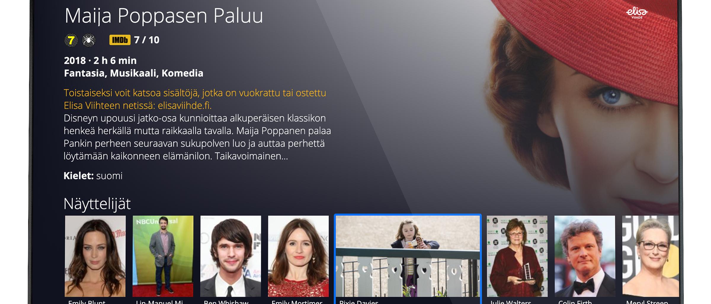 Elisa Viihde sovelluksen testaus LG:n vuonna 2016 julkaistuille ja sitä uudemmille älytelevisioille