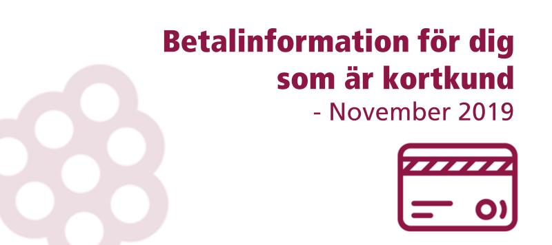 ❕ Viktig information & datum om betalningen i november
