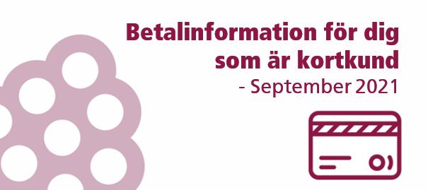 ❕ Viktiga datum & information om betalningen i september