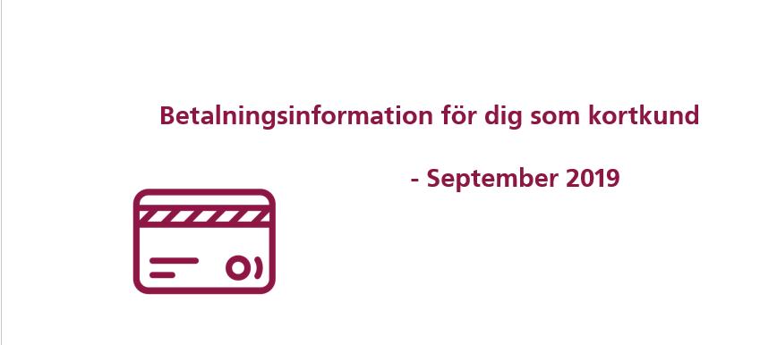 Viktig information & datum om betalningen i september