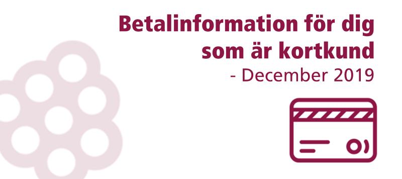 ❕ Viktig information & datum om betalningen i december