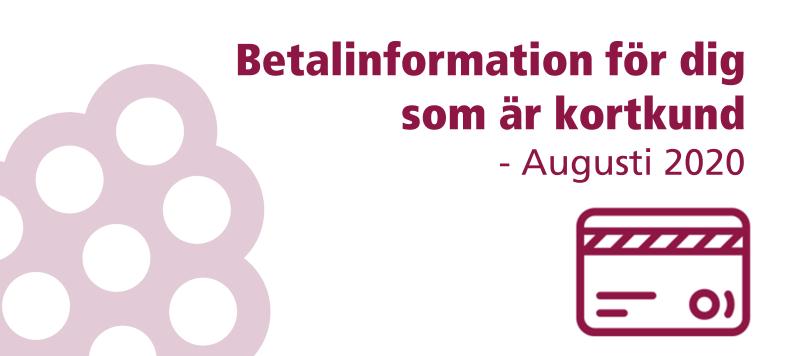 ❕ Viktig information & datum om betalningen i augusti