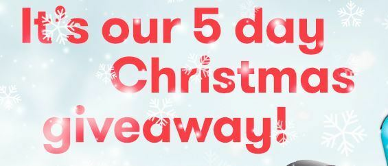 It's our 5 day Christmas Giveaway!