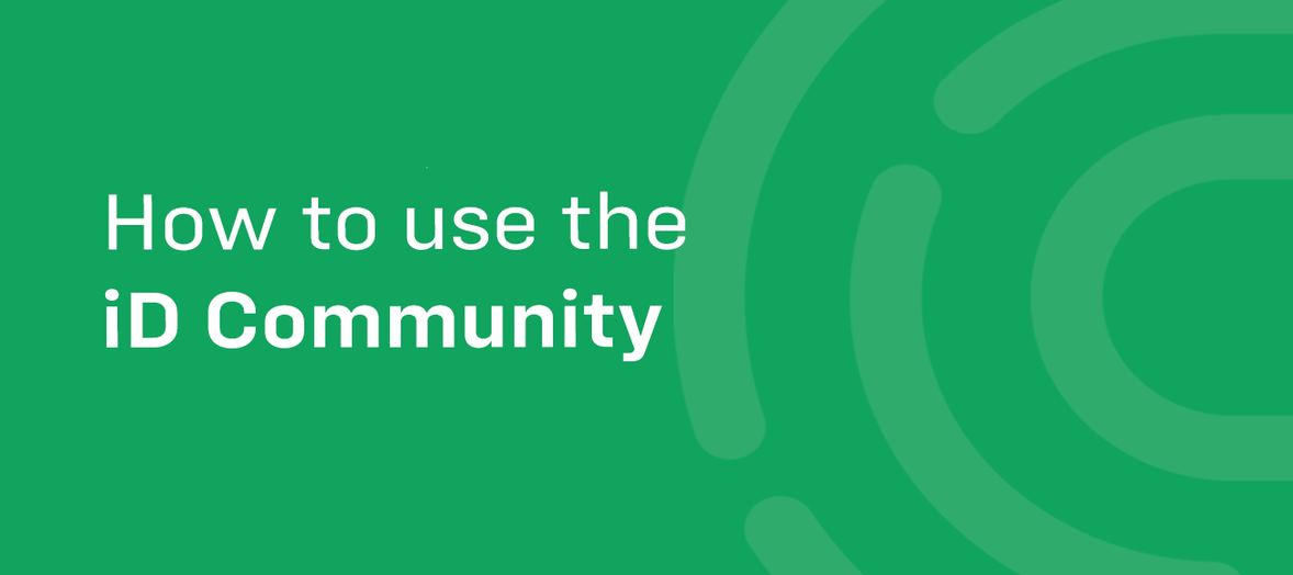 How to use the iD Community