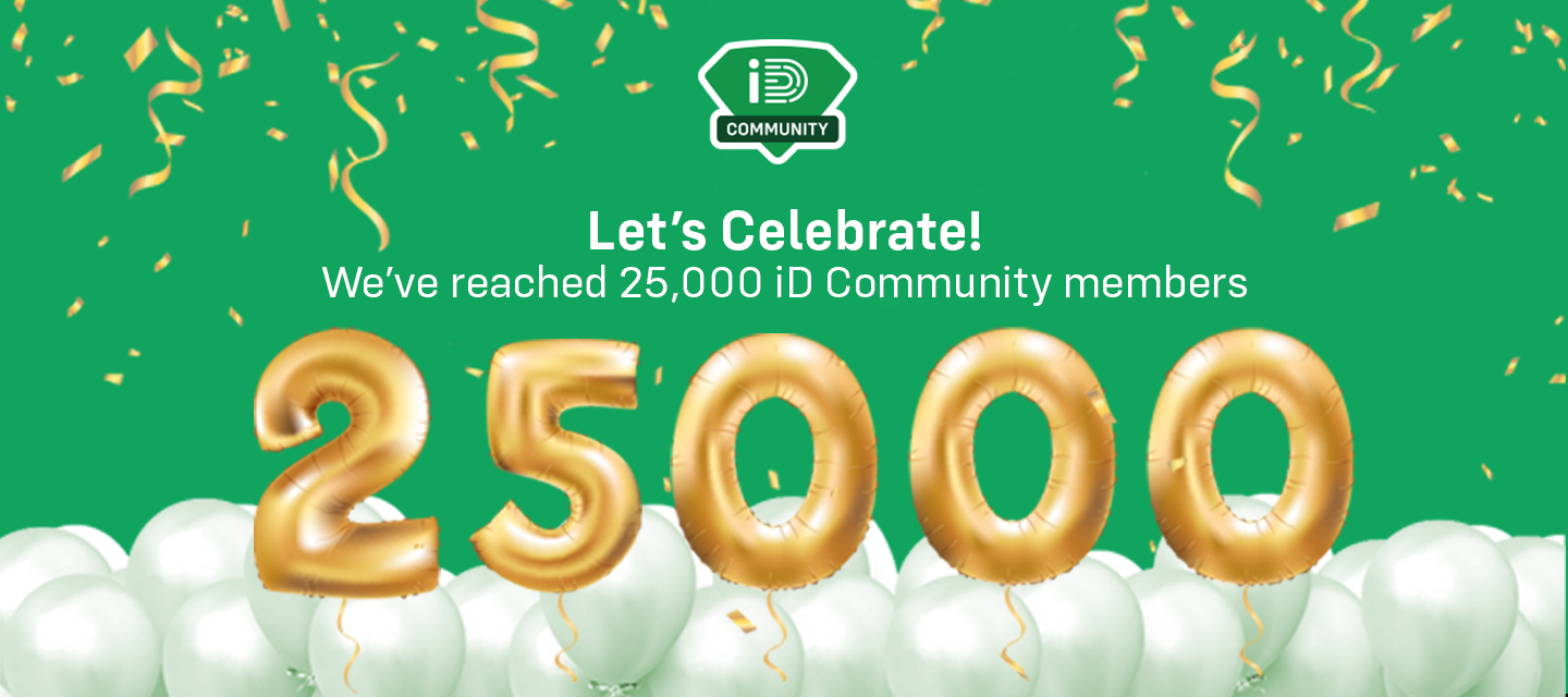 We've Reached Over 25K iD Community Members - Competition Closed