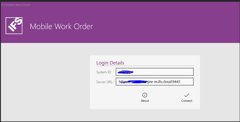 Work when mobile to login Two