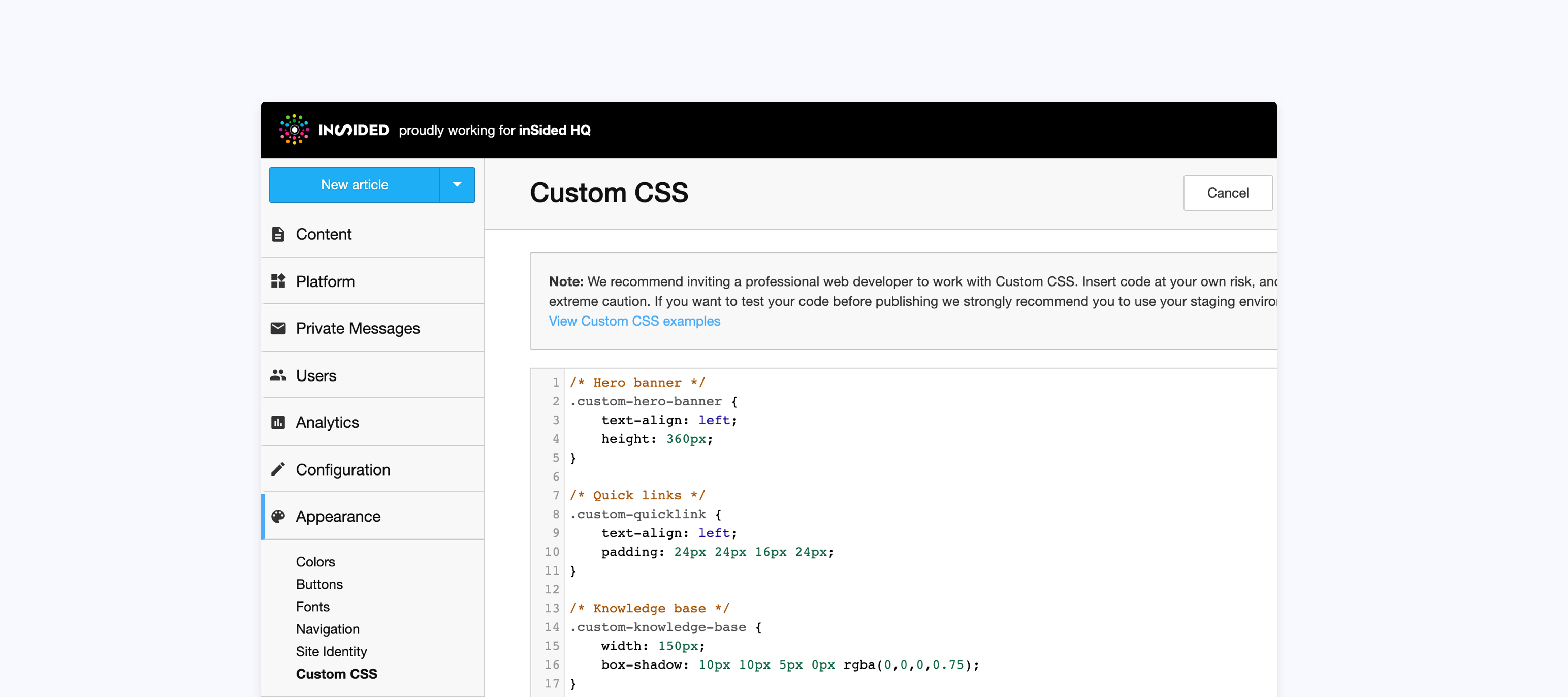 Use Custom CSS to change the look and feel of your community 🎨