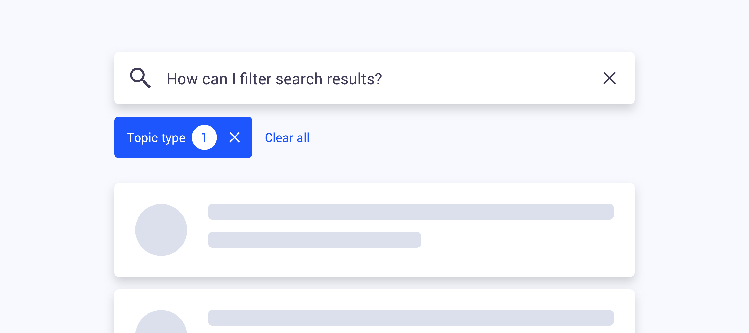Now available: Instant search and search filters