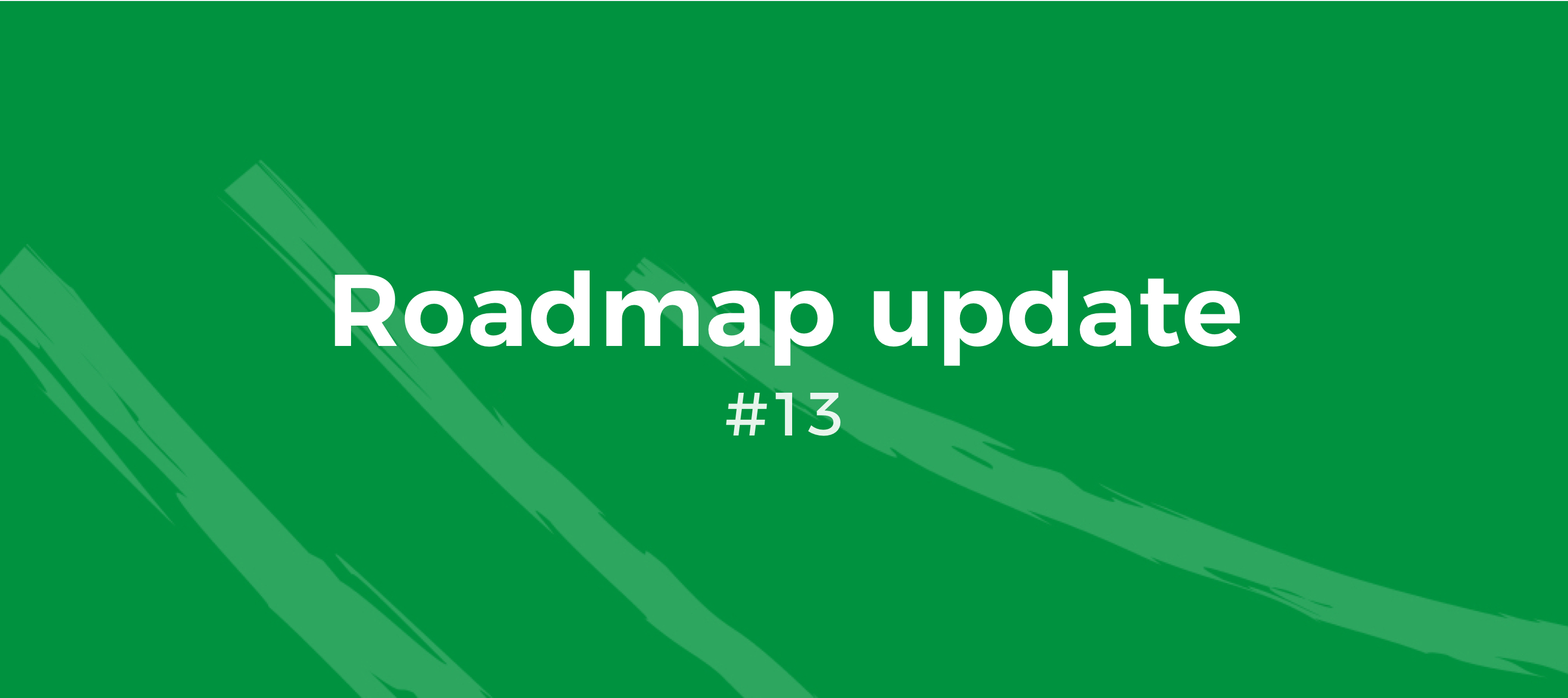 Roadmap Update #13