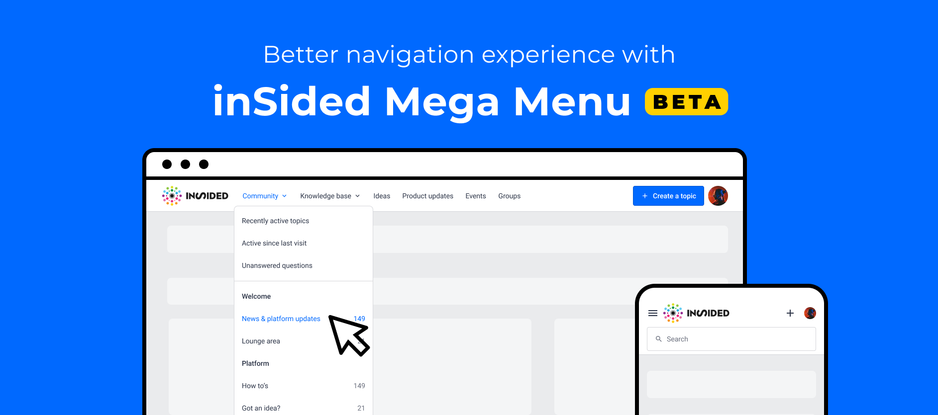 """Check out the new """"Mega Menu"""" widget on InSpired"""