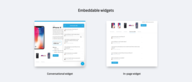 Embeddable Widgets Now Available
