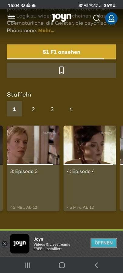 Kann man den Fortschritt von Serien zurücksetzen? | Joyn