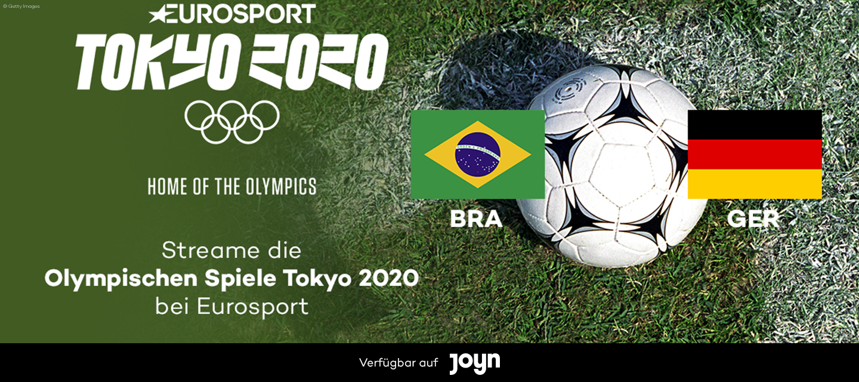 Olympische Spiele Tokyo 2020 // Deutschland - Brasilien // Fußball Männer // Live bei Eurosport auf Joyn