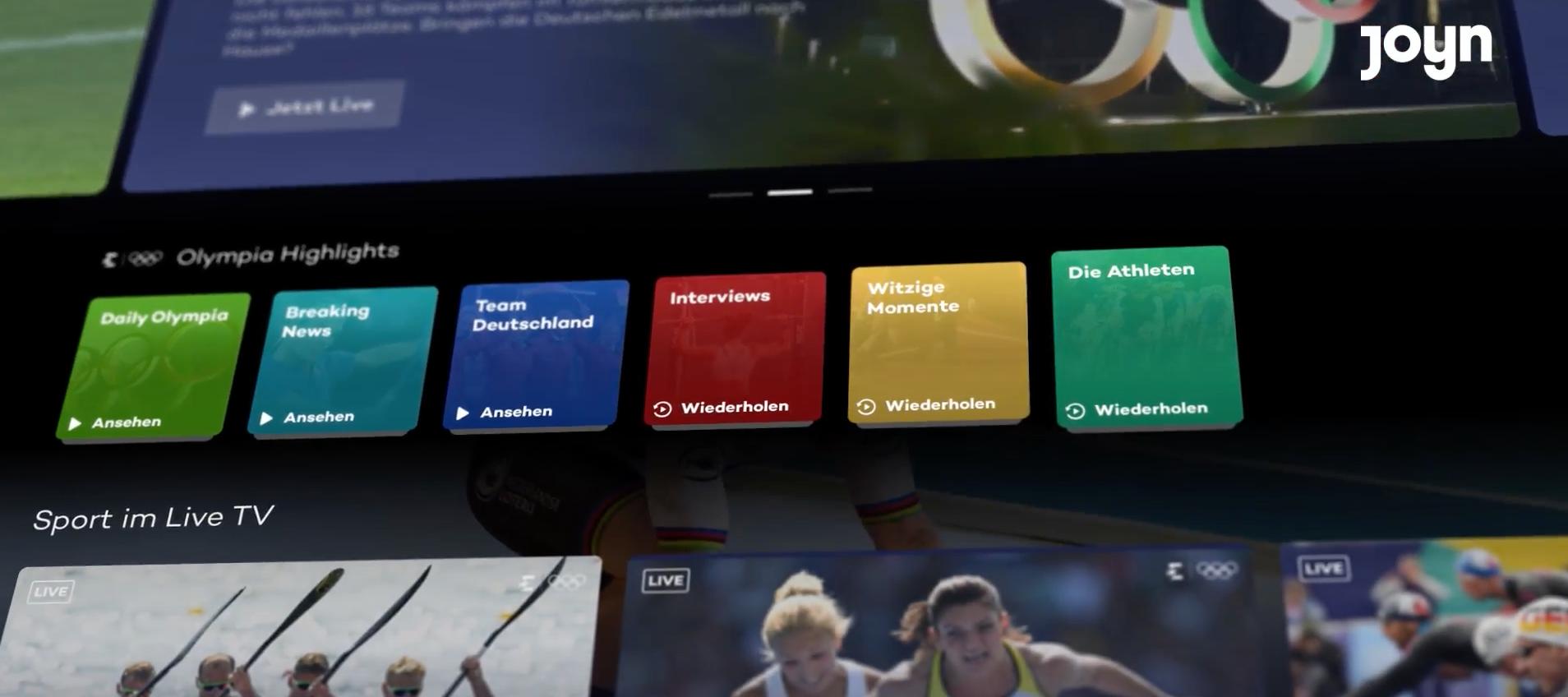 Die Olympischen Spiele Tokyo 2020 bei Eurosport auf Joyn personalisieren