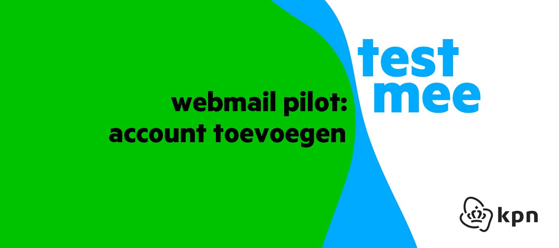 [Test] Nieuwe webmail optie: e-mailaccount toevoegen