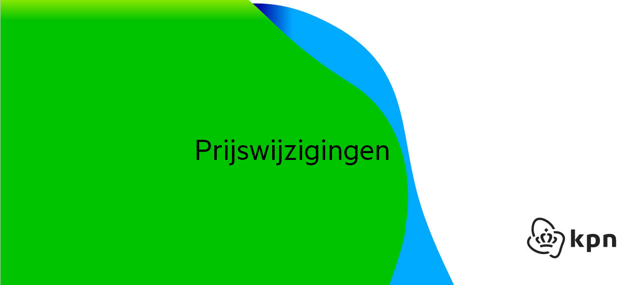 Prijswijziging KPN 2021
