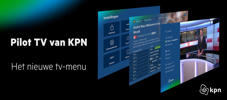 Pilot TV van KPN: Het nieuwe tv-menu
