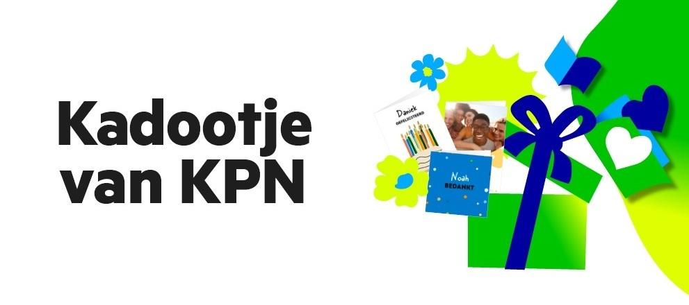 Kadootje van KPN juli en augustus: gratis Greetz kaart