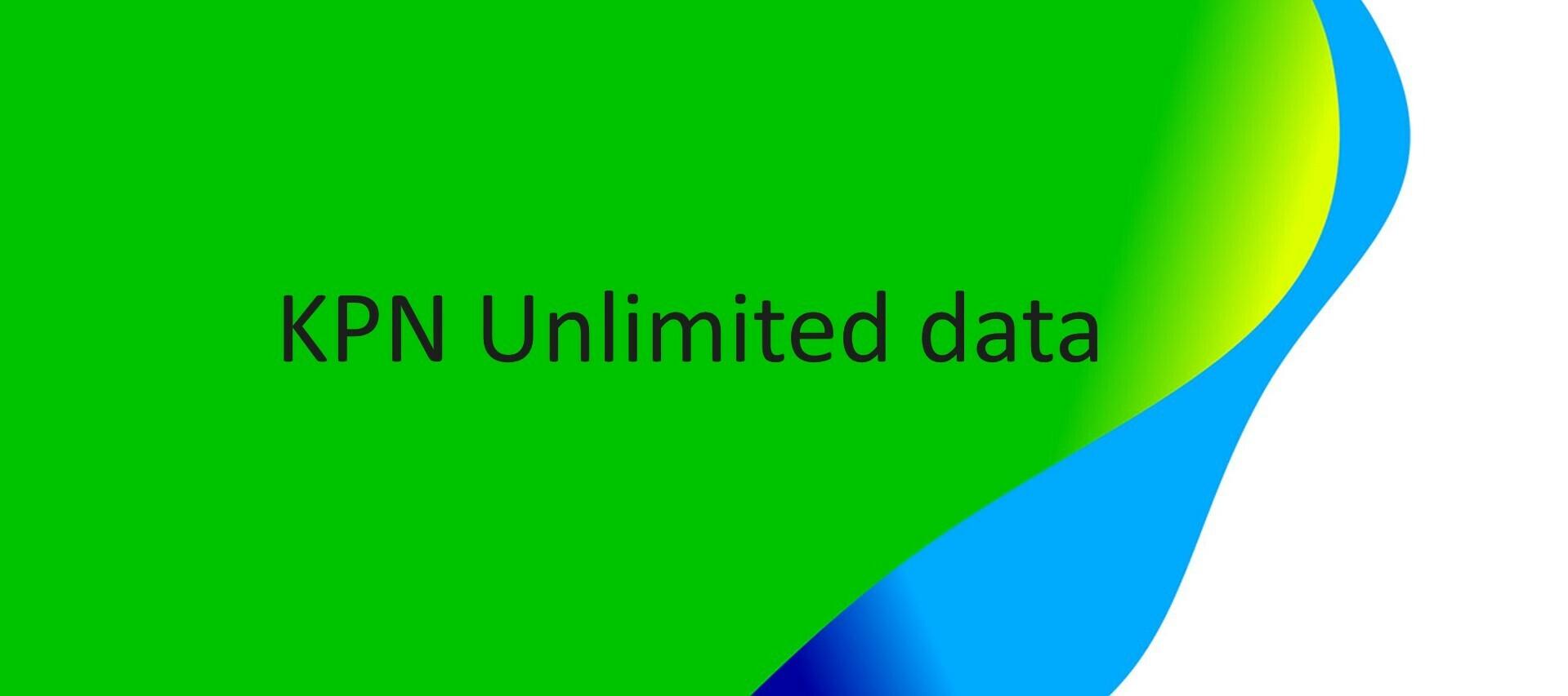 Zorgeloos mobiel internet met Unlimited Data van KPN