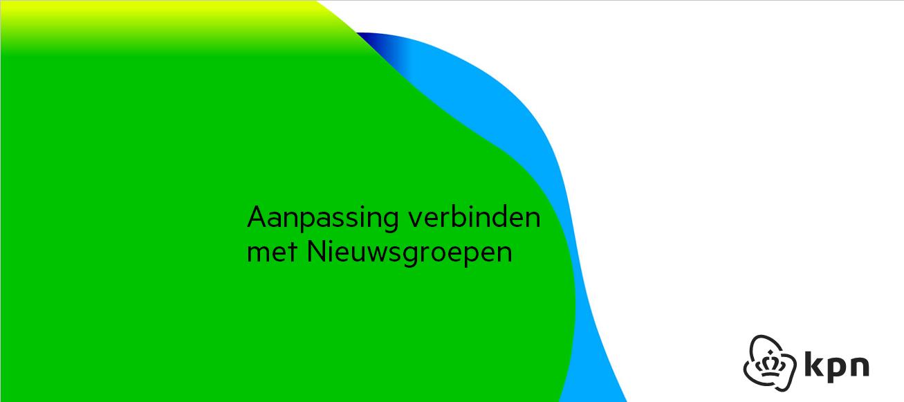 Aanpassing verbinden met Nieuwsgroepen (Usenet)