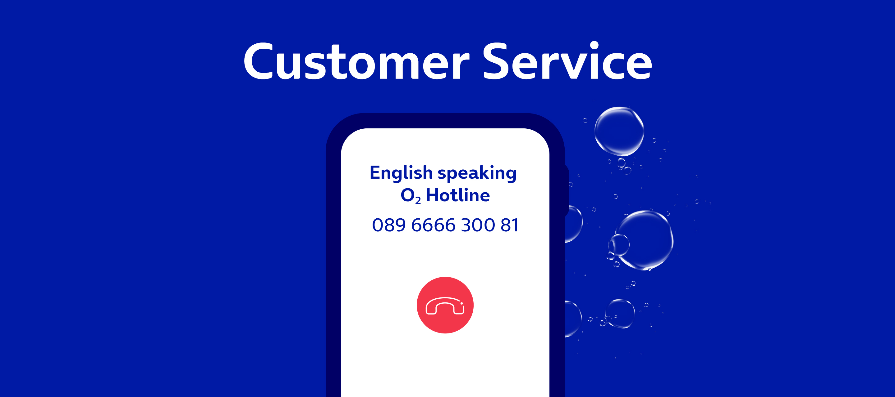 Welcome to our english speaking O₂ Hotline