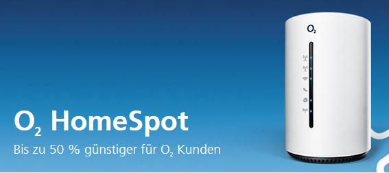 Nur für o2 Kunden: 50% Rabatt auf den o2 HomeSpot – Mobiles WLAN, wo du es brauchst!