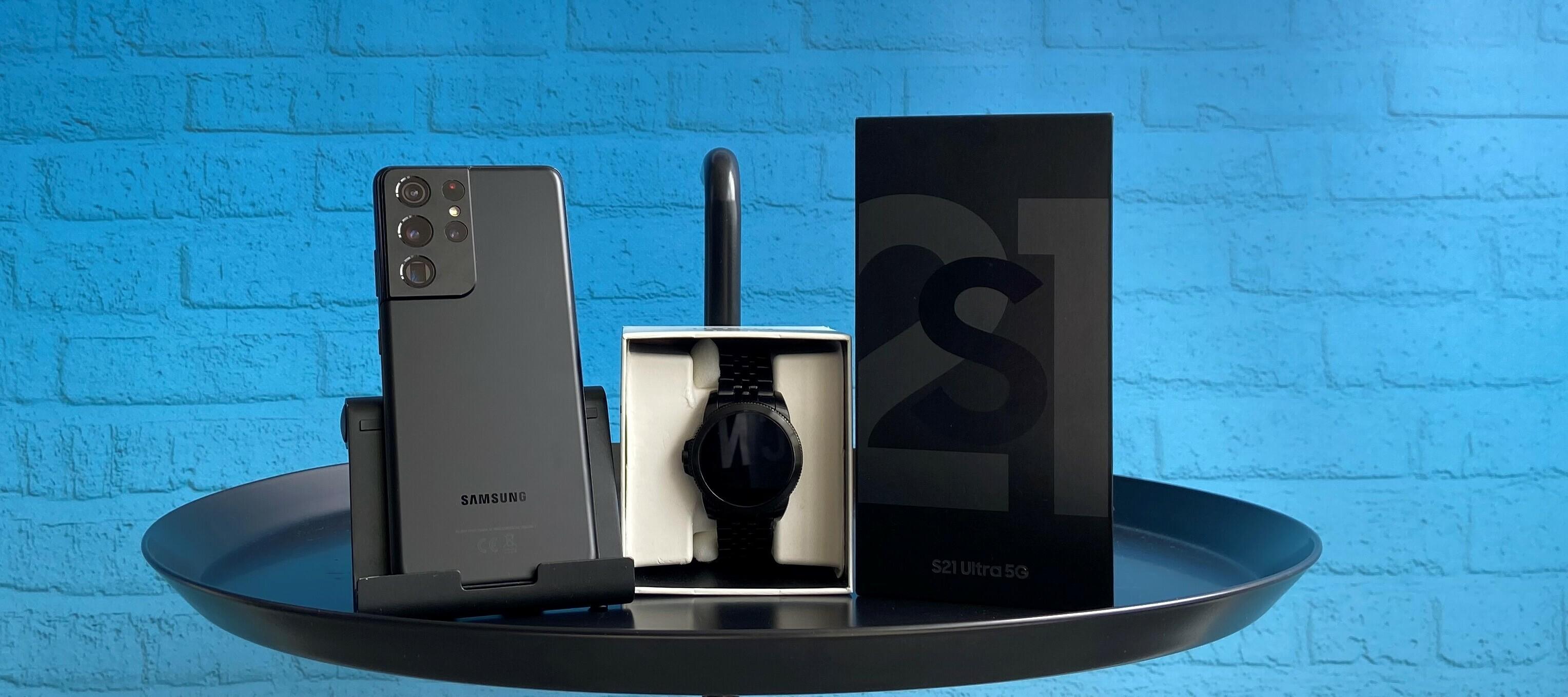 Samsung Galaxy S21 Ultra 5G + Fossil Gen 5E - schick und smart. Das Testgerätebundle!