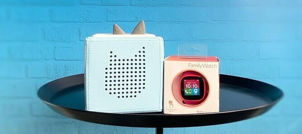 Toniebox & TCL Movetime FamilyWatch MT30 - kleiner Würfel für große Tester.