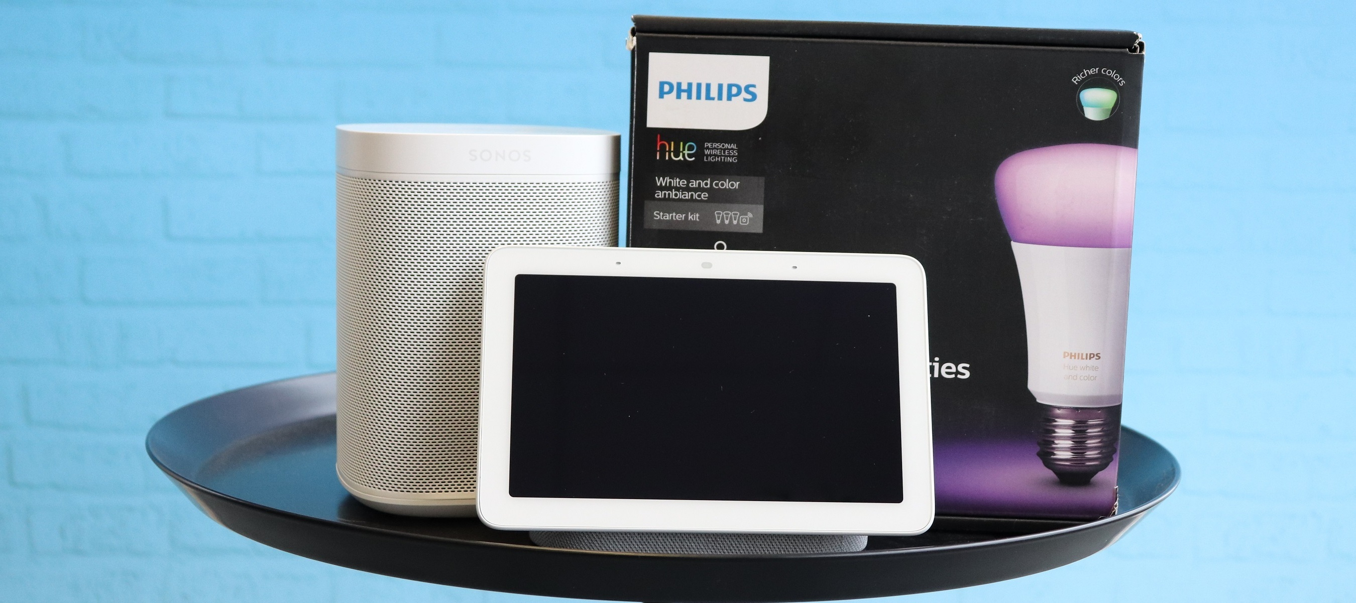 """Smart Home Test-Bundle """"Sonos One, Philips Hue & Google Nest Hub"""": Der Einstieg, mache dein Heim smart!"""