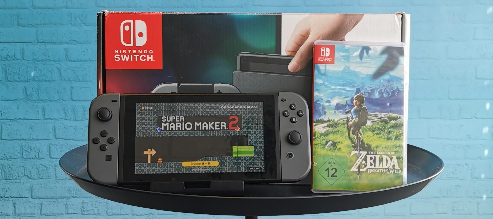 Nintendo Switch Testgerät: Super Mario Maker 2 und Zelda - Breath of the wild für deinen Test bereit!
