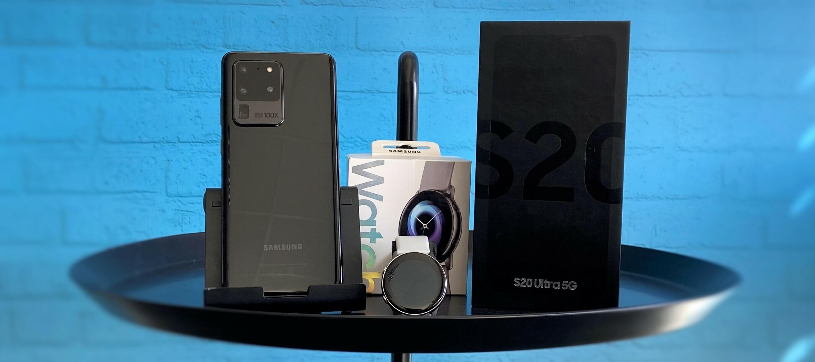 Samsung Galaxy S20 Ultra 5G & Samsung Galaxy Watch Active - das Highend Bundle sucht dich als Tester:in!