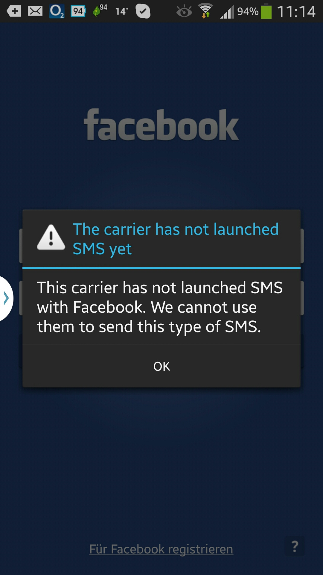 facebook bestätigungscode falsche handynummer