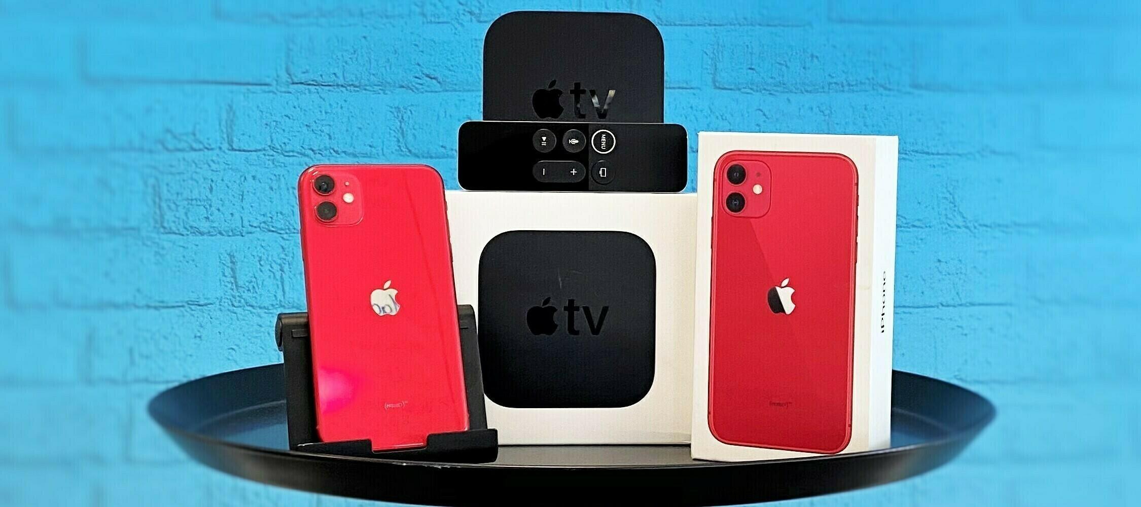 Das Powerbundle ist zurück: Teste jetzt das iPhone 11 RED mit dem Apple TV 4K zusammen