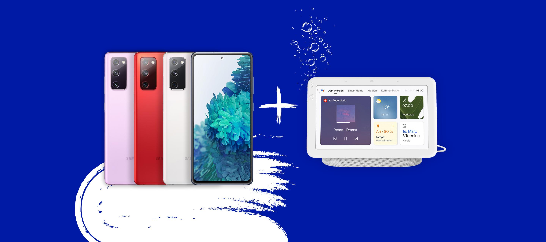 Samsung S20 FE oder A52s 5G bei O₂ bestellen und einen Google Nest Hub gratis erhalten