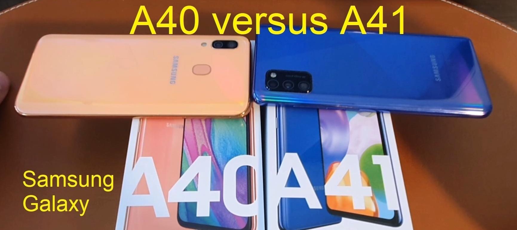 Samsung Galaxy A40 versus A41 - lohnt sich ein Upgrade?