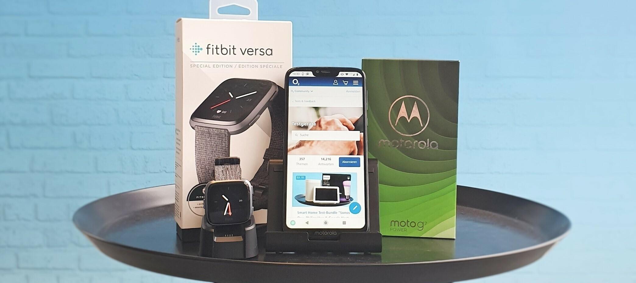Motorola Moto G7 Power & Fitbit Versa Special Edition - Super-Power-Fitness-Testbundle!
