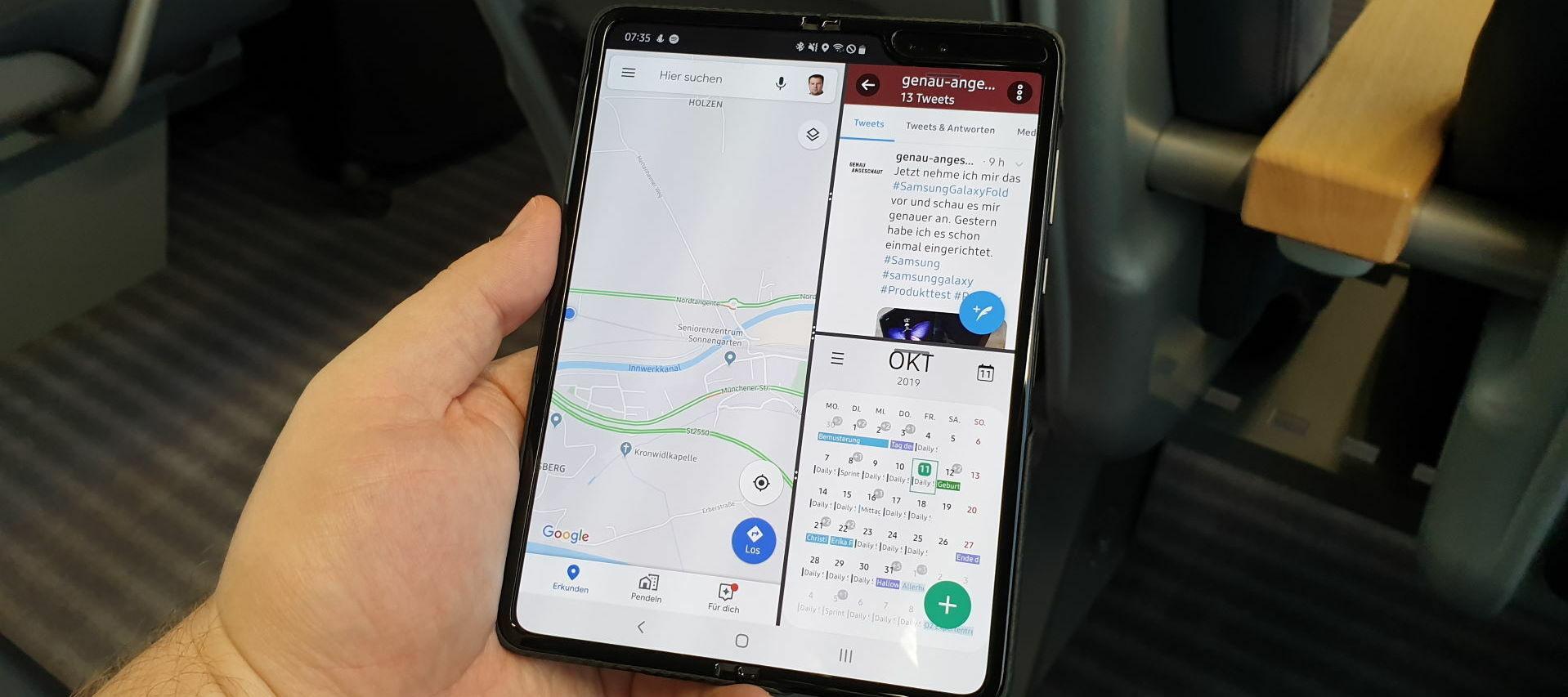 First Contact mit dem Samsung Galaxy Fold