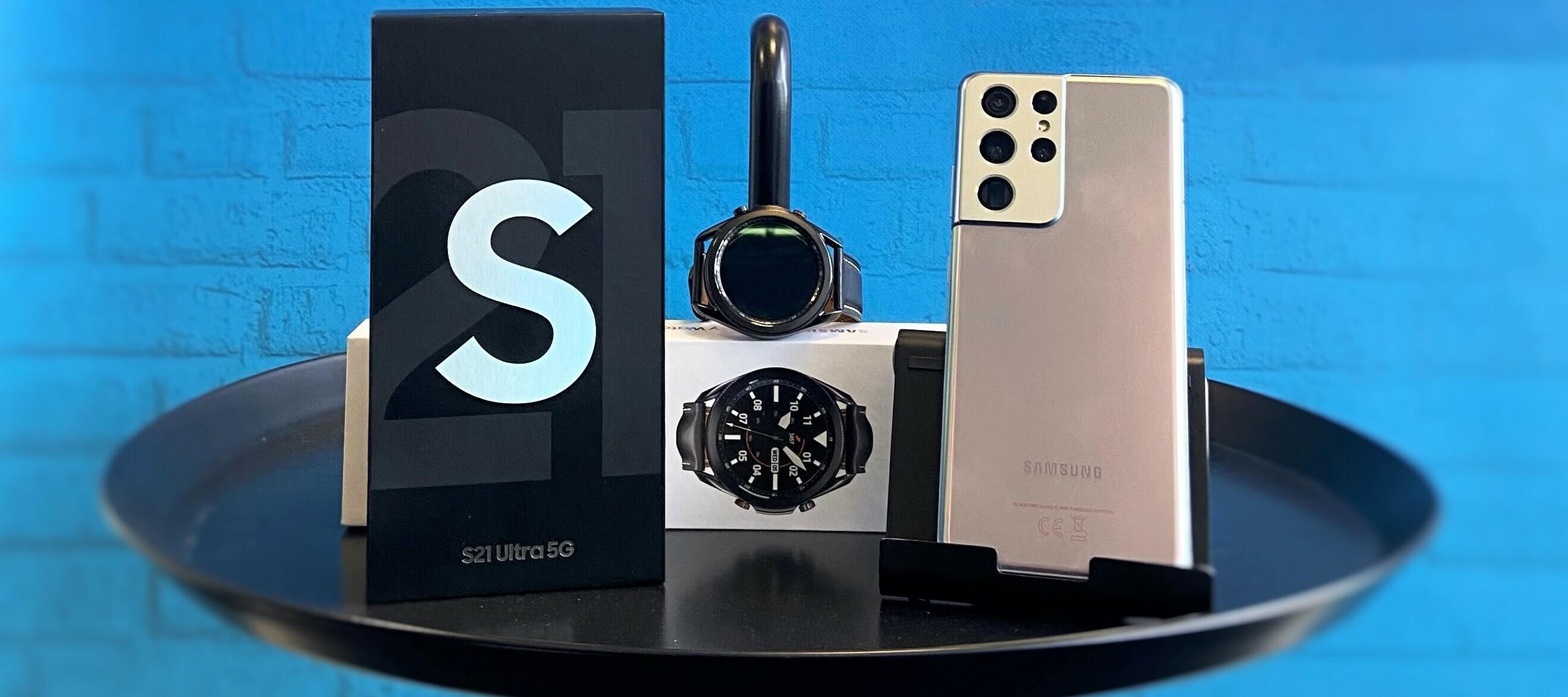 Samsung Galaxy S21 Ultra & Galaxy Watch3 - Das HighEnd-Bundle zum Testen
