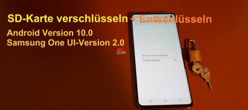 SD-Karte verschlüsseln und entschlüsseln unter Android 10