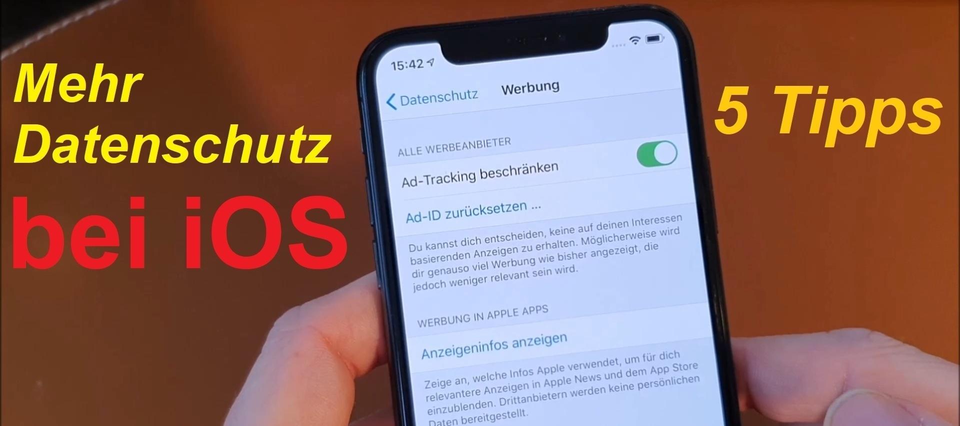 5 Tipps für mehr Datenschutz bei iOS