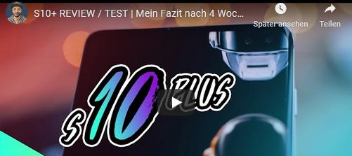 Mein YouTube REVIEW zum S10+ | Samsung's Lösung für die NOTCH?!?